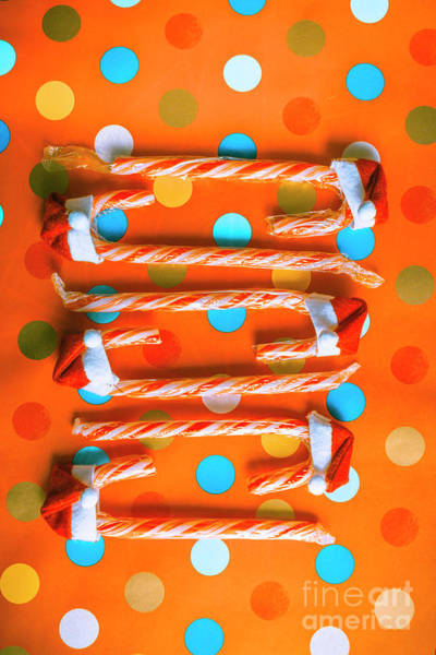Wall Art - Photograph - Candy Canes And Christmas Hats by Jorgo Photography - Wall Art Gallery