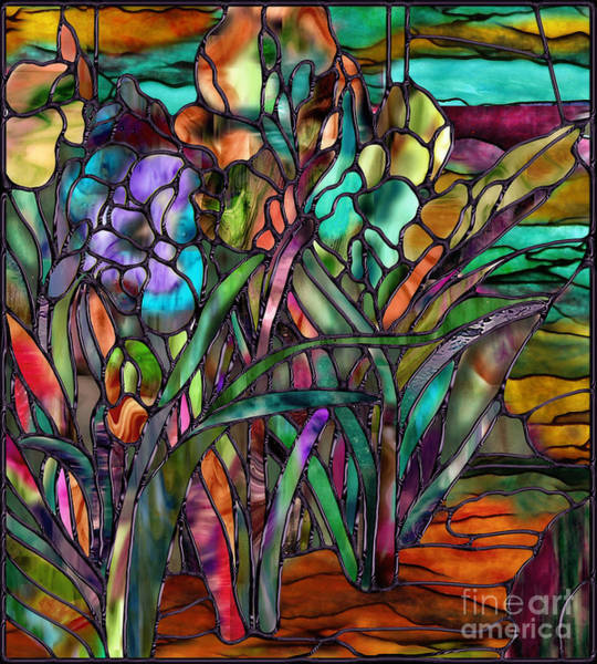 Iris Painting - Candy Coated Irises by Mindy Sommers