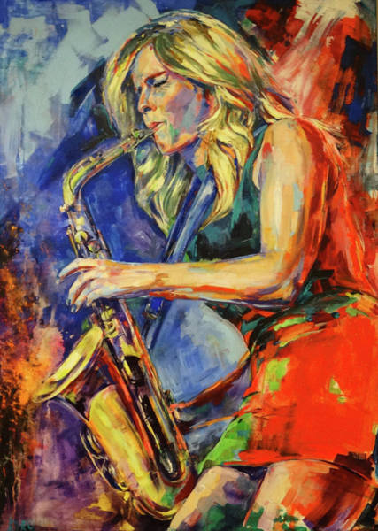 Pink Floyd Painting - Candy Dulfer, Lily Was Here by Koro Arandia