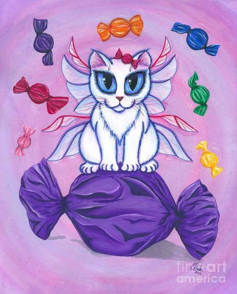 Candy Fairy Cat, Hard Candy Art Print