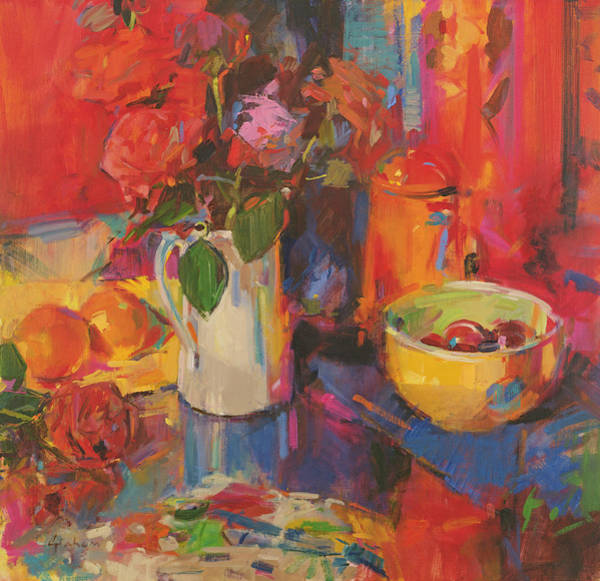 Candy Painting - Candy Roses by Peter Graham