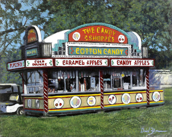 County Fair Painting - Candy Shoppe by David Zimmerman