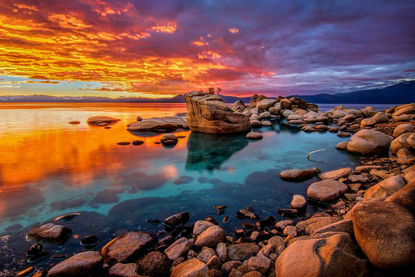 Tahoe Photograph - Candy Skies by Steve Baranek