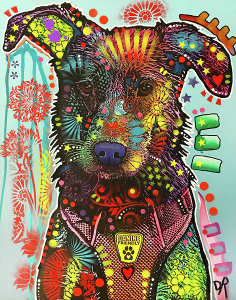 Wall Art - Painting - Canine Friendly by Dean Russo Art