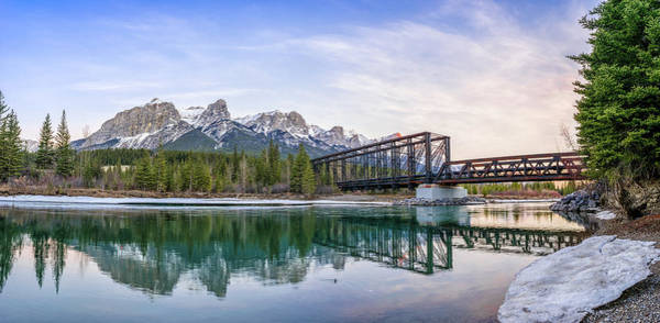 Canadian National Railway Photograph - Canmore Engine Bridge by Martin Capek