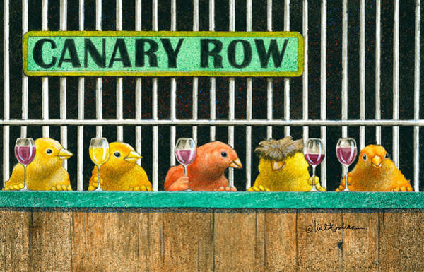 Canaries Painting - Canary Row by Will Bullas