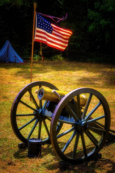Wall Art - Photograph - Cannon And Flag by Garry Gay