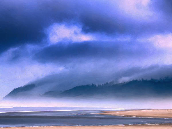 Cannon Beach Painting - Cannon Beach And Clouds by Dominic Piperata