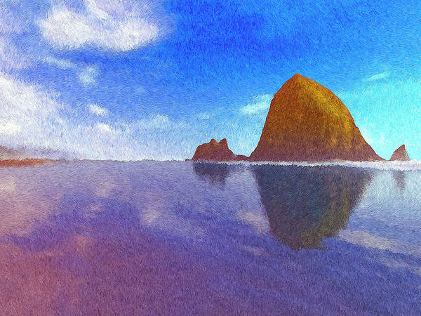 Cannon Beach Painting - Cannon Beach by Dominic Piperata