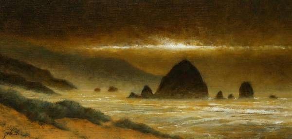 Painting - Cannon Beach Evening by Jim Gola