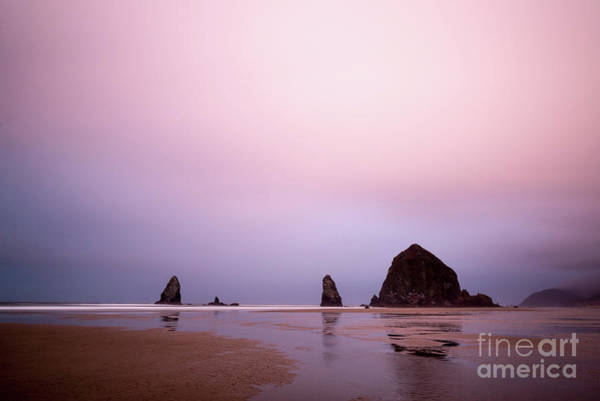 Photograph - Cannon Beach In The Early Morning Blue Light by Paul Quinn