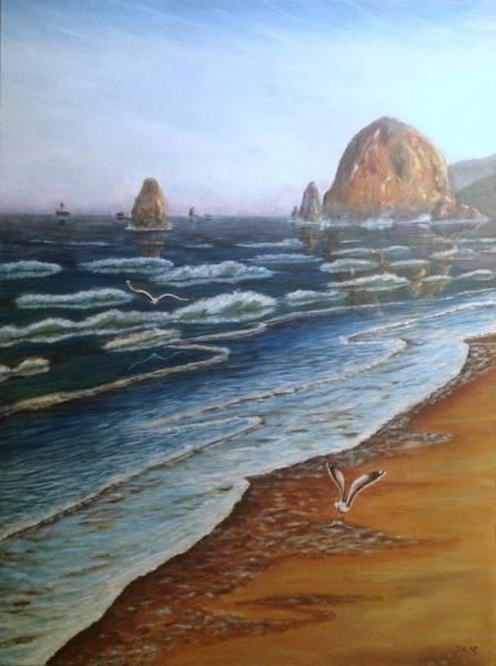 Wall Art - Painting - Cannon Beach by Jennifer Kwon