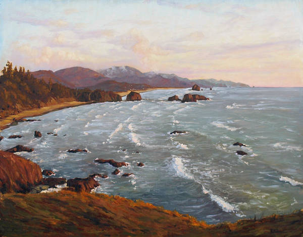 Cannon Beach Painting - Cannon Beach Oregon A Beautiful Consensus by Michael Orwick