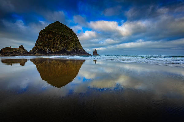 Photograph - Cannon Beach Reflections by Rick Berk