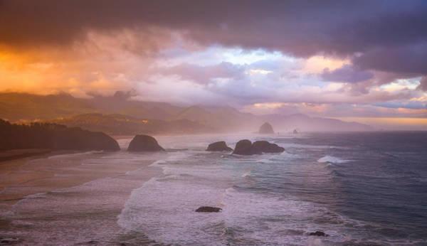 Photograph - Cannon Beach Sunrise Storm by Darren White
