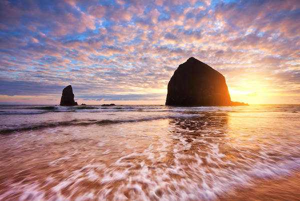 Cannon Beach Sunset Classic Art Print