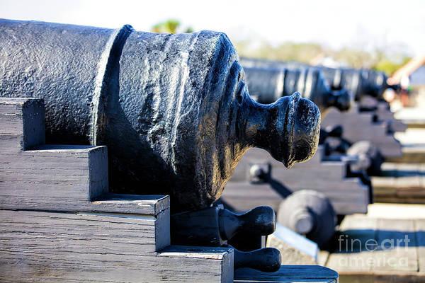 Saint Augustine Beach Wall Art - Photograph - Cannons, Castillo De San Marcos, St Augustine, Fl by Felix Lai