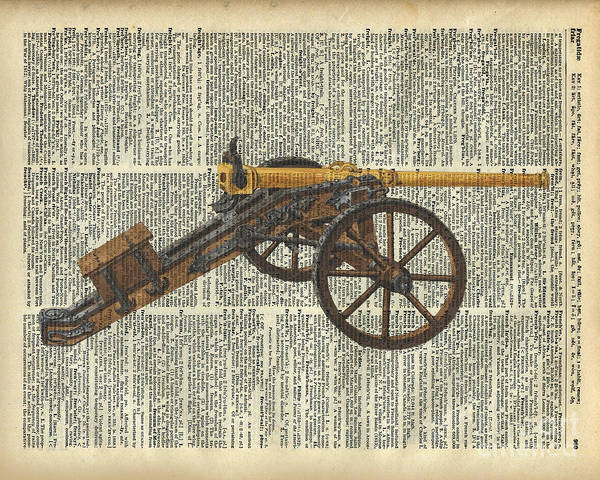 Page Mixed Media - Cannon by Anna W