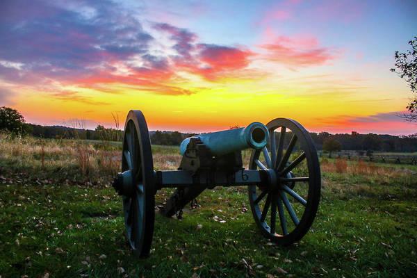 Wall Art - Photograph - Artillery Piece Near Hancock Avenue Gettysburg Battlefield by William Rogers