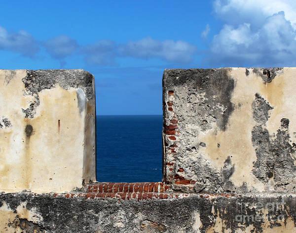 El Toro Photograph - Cannon Wall El Morro by Cheryl Del Toro