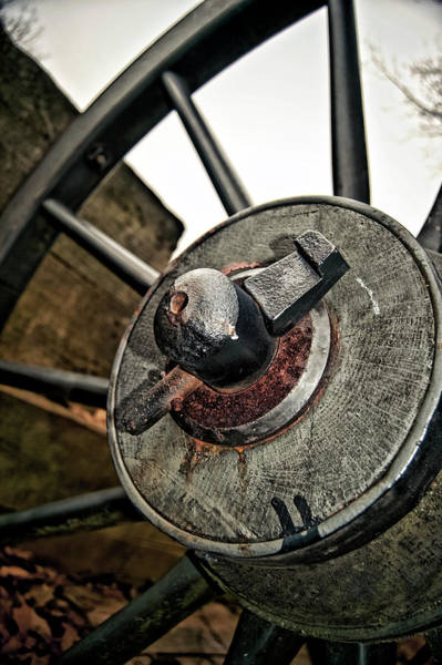 Wall Art - Photograph - Cannon Wheel by Amber Flowers