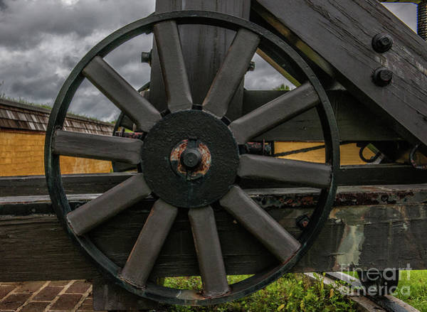 Photograph - Cannon Wheel by Dale Powell