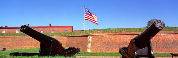 Fortification Photograph - Cannons And Wall At Fort Mchenry by Panoramic Images