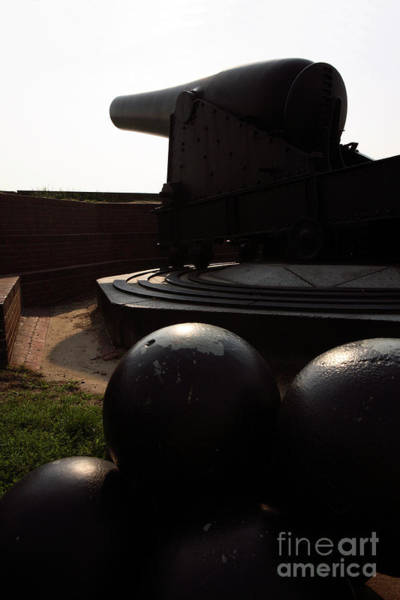 Photograph - Cannons At Fort Mchenry by William Kuta