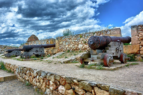 Photograph - Cannons At The Roman Walls Of Tarragona In Spain by Fine Art Photography Prints By Eduardo Accorinti