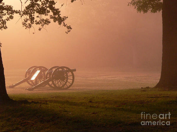 Wall Art - Photograph - Cannons In The Fog by David Bearden
