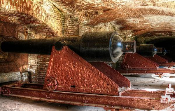 Low Battery Photograph - Cannons Of Fort Sumter by Carol Montoya