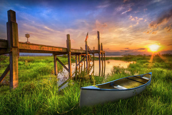 Photograph - Canoe In Grassy Waters by Debra and Dave Vanderlaan