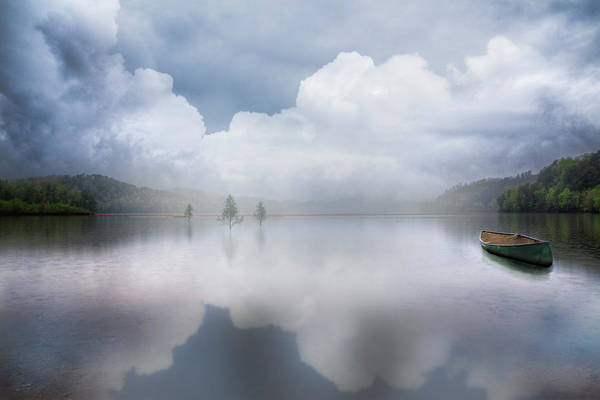 Wall Art - Photograph - Canoe In The Clouds  by Debra and Dave Vanderlaan