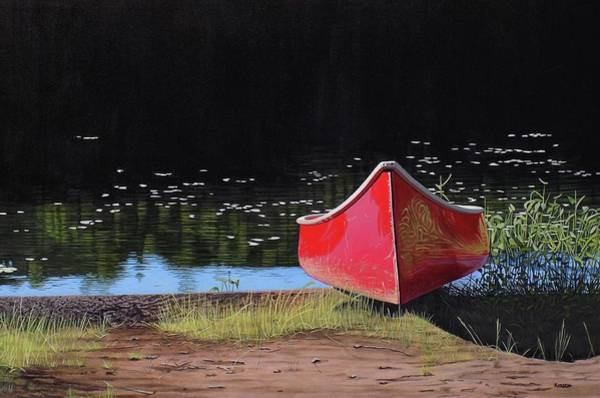 Painting - Red Canoe by Kenneth M Kirsch