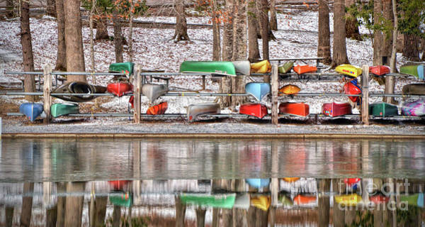 Canoe Reflections Art Print