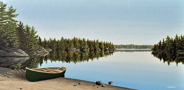 Painting - Canoe The Massassauga by Kenneth M Kirsch