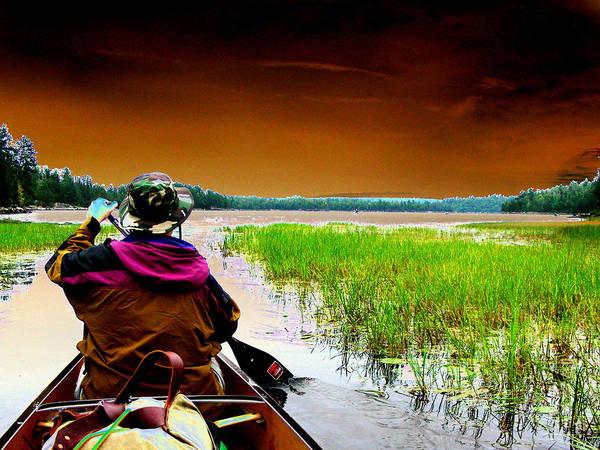 Paddle Digital Art - Canoe Trip by Peter  McIntosh