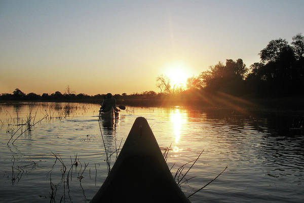 Photograph - Canoeing Into The Sunset by Kay Brewer