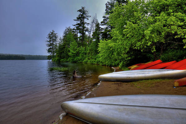 Photograph - Canoes And Kayaks On Nicks Lake by David Patterson