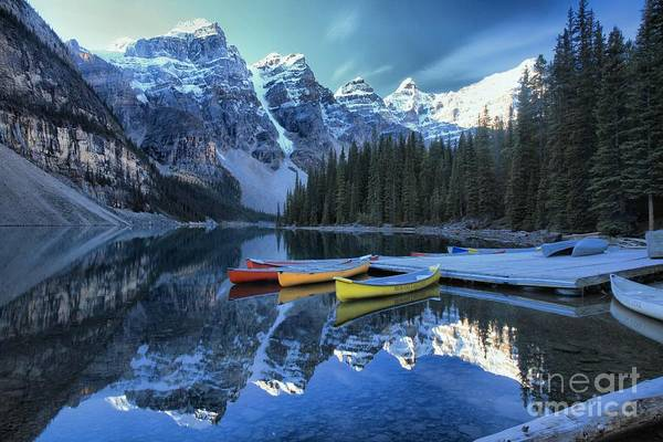 Photograph - Canoes In Moraine by Adam Jewell