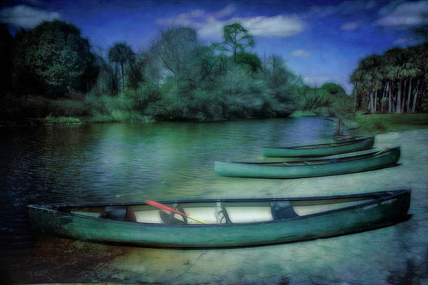 Photograph - Canoes In The Summer Island Mood by Debra and Dave Vanderlaan