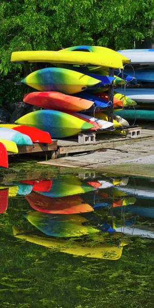 Kayaks Wall Art - Photograph - Canoes - Lake Wingra - Madison - Wisconsin by Steven Ralser