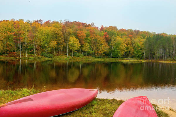 Photograph - Canoes On Lakes Edge by Dan Friend