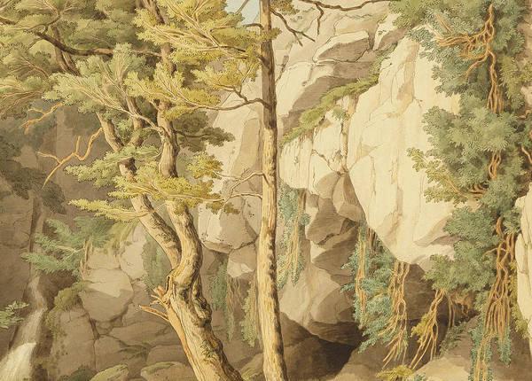 Wall Art - Painting - Canonteign  Devon by John White Abbott