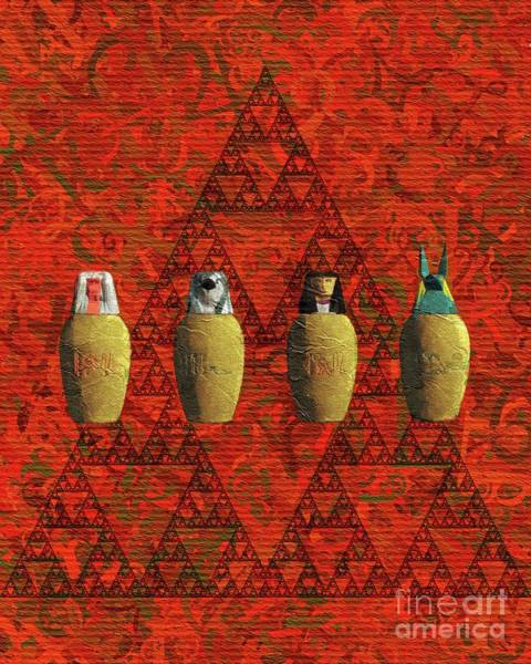 Wall Art - Painting - Canopic Jars, Ancient Egypt by Pierre Blanchard