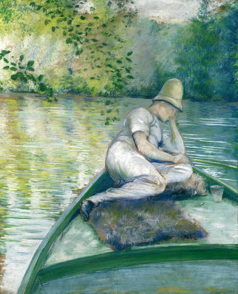 Drawing - Canotier Sur L'yerres by Gustave Caillebotte