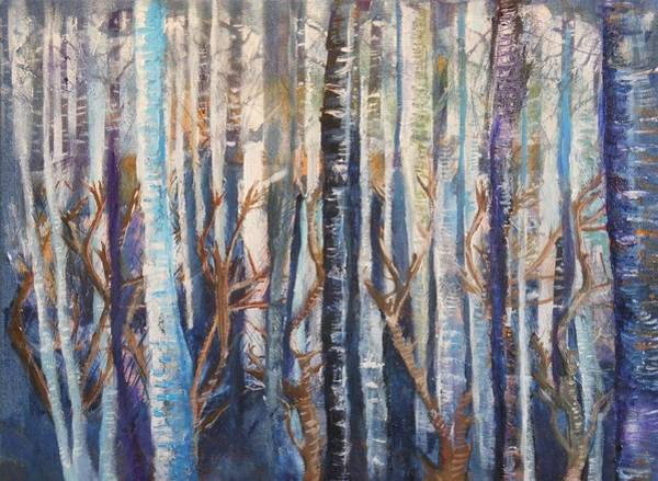 Painting - Can't See The Forest by Pam Halliburton