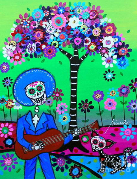 Painting - Cantando A Mi Chihuahua by Pristine Cartera Turkus