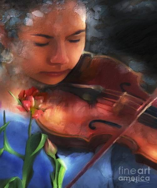 Violas Painting - Cantata by Bob Salo
