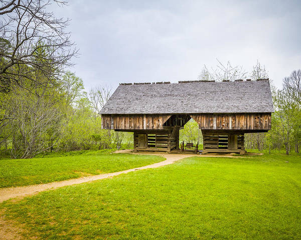 Photograph - Cantilevered Barn Tipton Place by Jack R Perry